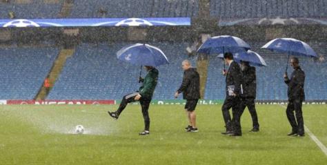 Manchester City- Borussia M'Gladbach reporté à cause de la pluie
