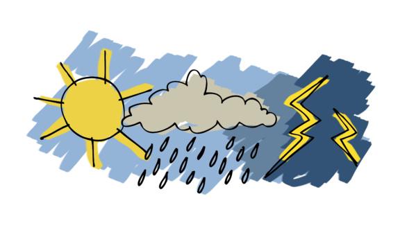 Des nuages à caractères pluvio-orageux pour les prochaines 24H