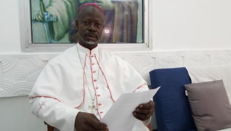Monseigneur Mathieu Madéga Lebouakéhan, président de la conférence épiscopale du Gabon.