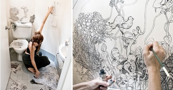 Cette artiste transforme ses toilettes en une forêt féerique : le résultat est magnifique !