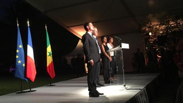 Le Premier ministre Manuel Valls en visite officielle à Dakar, le 22 septembre 2016.