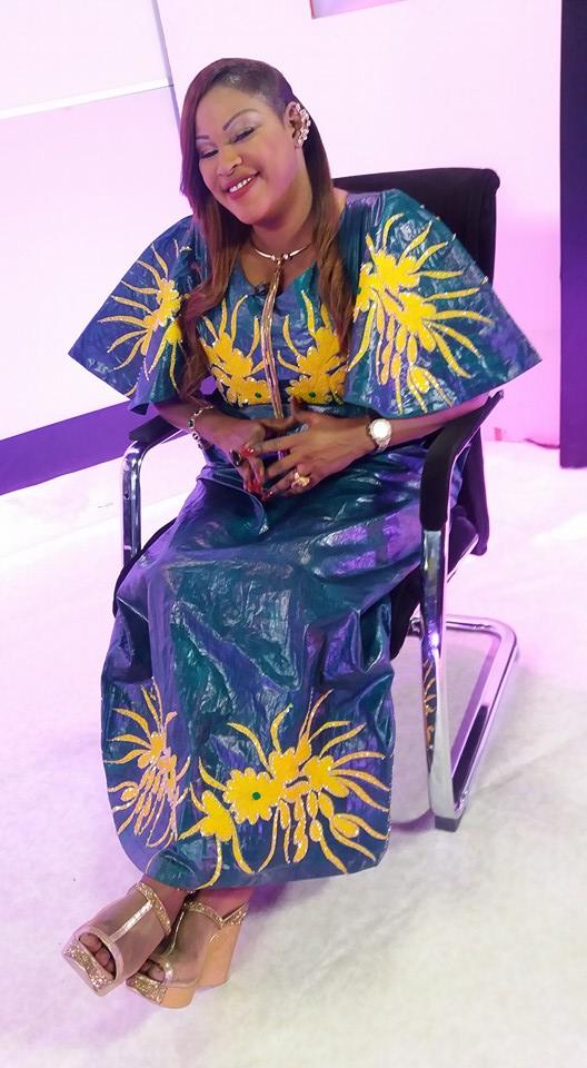 Kebs Thiam rayonnante dans cette robe