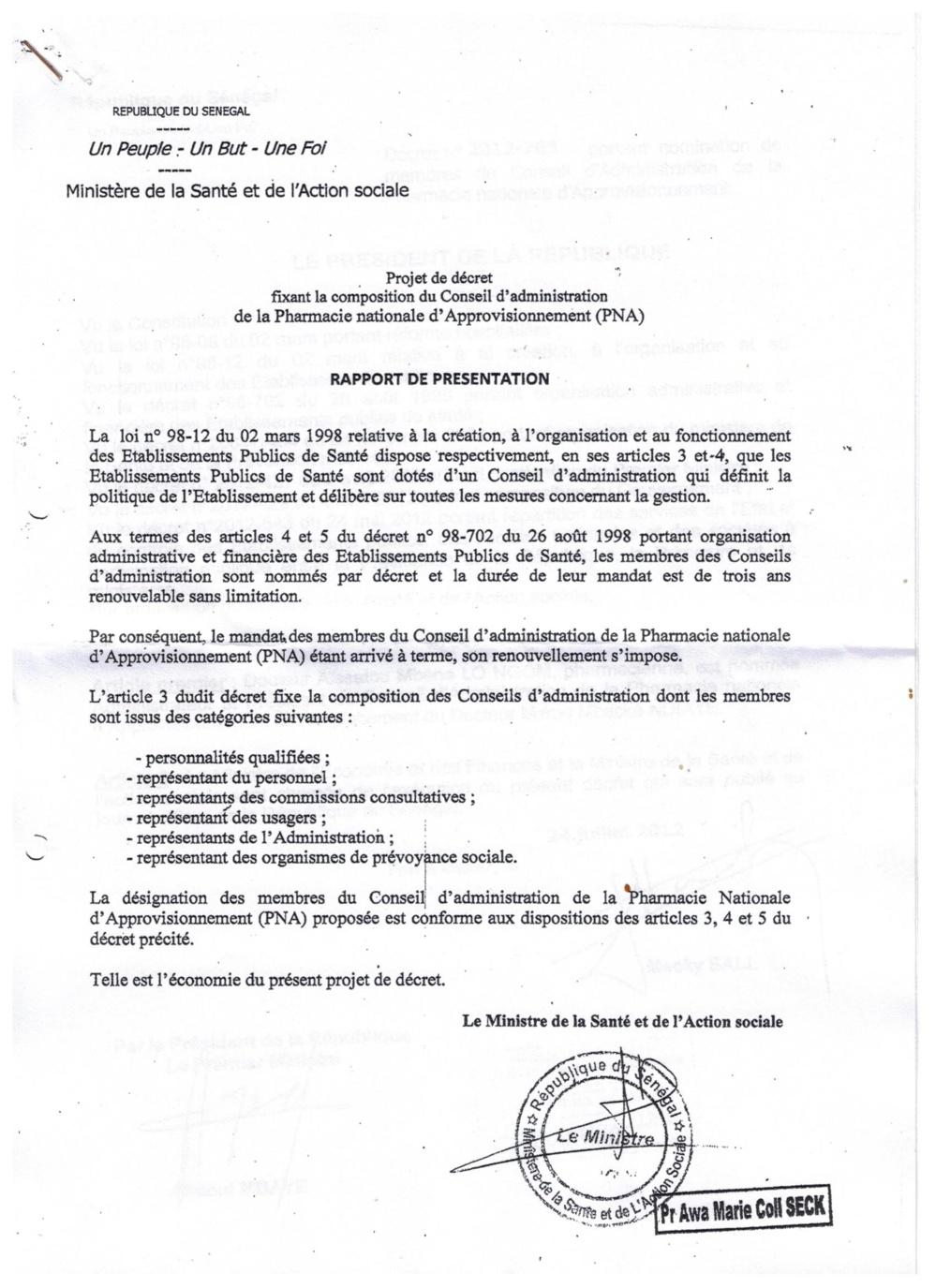 Exclusif Leral.net: Imbroglio juridique et micmacs à la Pharmacie Nationale d'Approvisionnement (PNA)