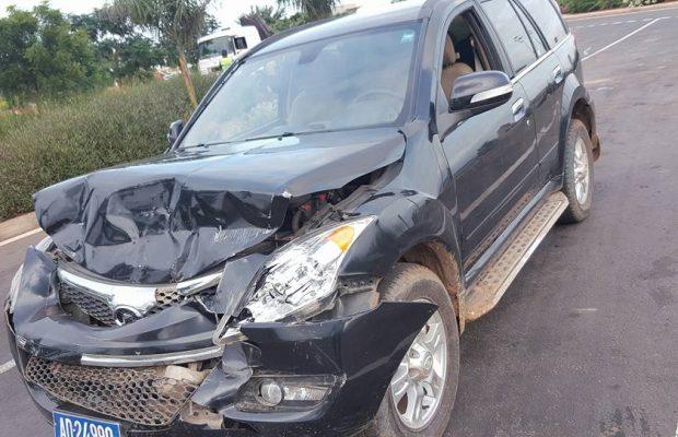 Photos - Bara Gaye, maire de Yeumbeul Nord, victime d'un accident de voiture