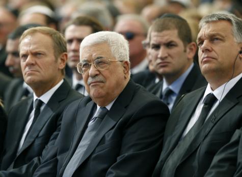 Le président palestinien Mahmoud Abbas et le président du Conseil européen Donald Tusk