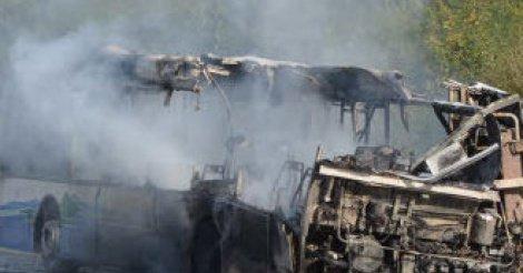 Urgent - Corniche de Dakar : Un bus de transport d'élèves prend feu
