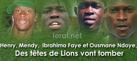 MATCH SENEGAL GAMBIE: Henry, Mendy, Ousmane Ndoye et Ibrahima Faye, Des têtes de Lions vont tomber