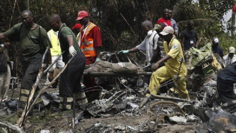 débris d'un avion militaire guinéen-Photo d'archives
