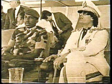 Thomas Sankara et Momar El Kadhafi