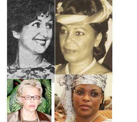 Les Premières dames du Sénégal : Colette Senghor,  Elizabeth Diouf, Vivianne Wade et Marième Faye Sall.