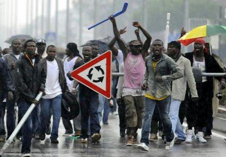 La force de frappe des immigrés africains en Italie.