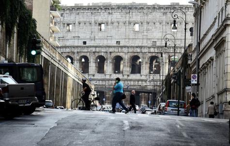 Vue sur le Colisée, à Rome