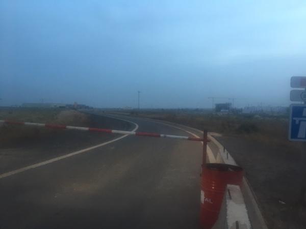 autoroute à péage, voix fermée
