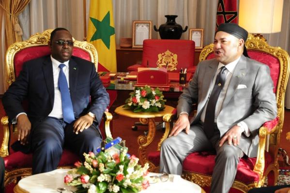 Le Président Macky Sall avec son homologue marocain Mohammed VI.
