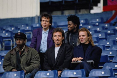 Youssou Ndour, Bruce Springsteen, Sting, Peter Gabriel Tracy Chapman en tournée (photos archives).