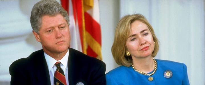 Hilary Clinton était la Première dame des Etats Unis quand son mari Bill Cllinton était à la Maison Blanche.