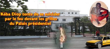 DRAME - Kéba Diop s'immole par le feu devant le Palais