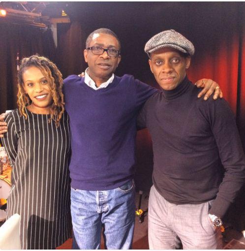 Youssou Ndour avec Claudy Siar et Florelle Manda