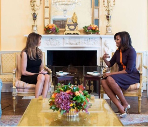 Que dit Michelle Obama à Melania Trump ?