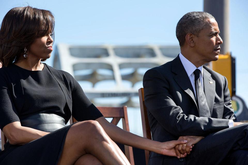 Michelle Obama et Barack Obama amoureux, le 7 mars 2015.