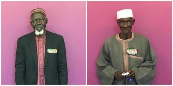 Ndongo Dieng et d'Alioune Mbodji, deux anciens tirailleurs sénégalais résidant en France