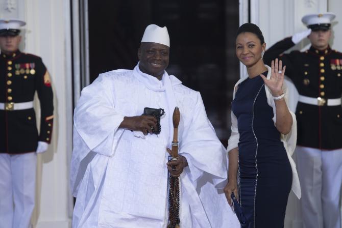 Yahya Jammeh, candidat pour un cinquième mandat : « Peu importe ce que les gens disent de moi, je n'en suis pas touché »