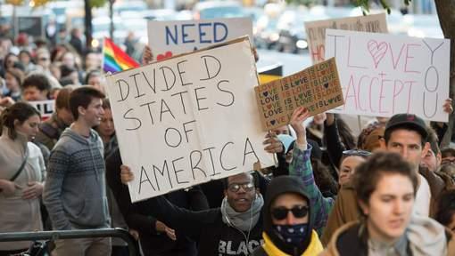 Plus d'un millier de manifestants anti-Trump à New York