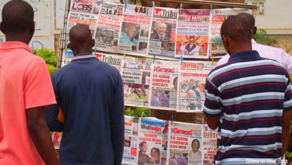 La Une des journaux du lundi 28 novembre 2016 : Le vote du budget national de 3360 milliards de FCFA et l'AG des magistrats au menu