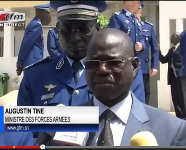 Augustin Tine, le ministre des Forces armées.