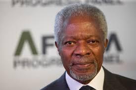 Kofi Annan est un diplomate ghanéen. Il a été secrétaire général de l'ONU de 1997 à 2006