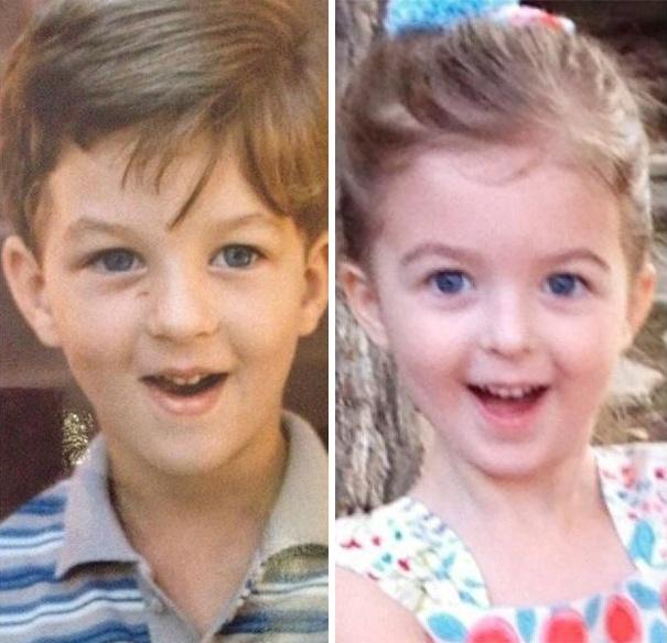 22 Photos qui montrent le pouvoir de la génétique avec la ressemblance entre parents