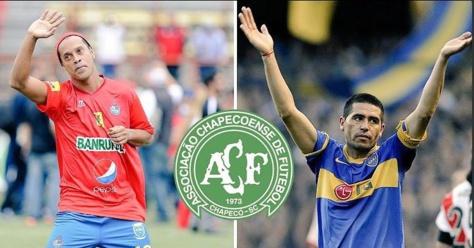 Ronaldinho et Riquelme seraient volontaires pour jouer 6 mois gratuitement à  Chapecoense !
