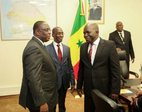 Les images de la rencontre entre la délégation de la coalition Manko Wattu Sénégal et le président Macky Sall au Palais