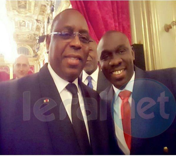 Papa Diouf et le président Macky Sall