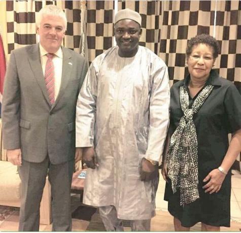 Adama Barrow a reçu l'ambassadeur de la Grande Bretagne et celui des USA