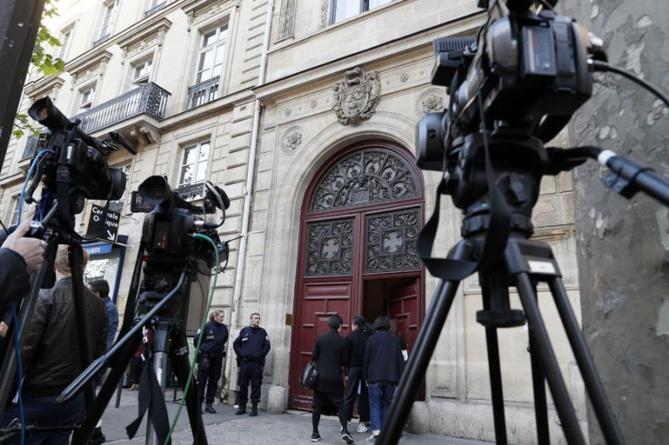 L'hôtel parisien où Kim Kardashian a été cambriolée, le 3 octobre 2016 – AFP