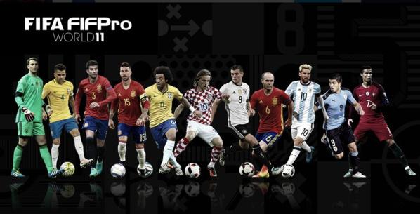 Fifa : le onze de l'année dévoilé :  Messi, Suarez, Ronaldo en attaque