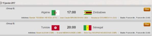 Programme CAN 2017 : Tunisie / Sénégal, le dimanche 15 janvier à 19 heures GMT (Groupe B)
