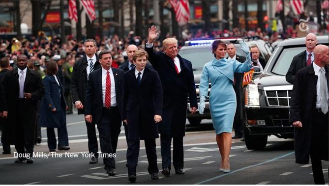Donald, Melania et Barron Trump