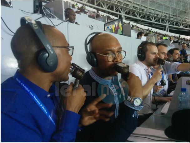 Photo: Le double ballon d'or africain, Elhadj Diouf, consultant sur BBC Afrique pour la finale de la CAN 2017 (Cameroun vs Egypte)