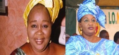 Les deux femmes responsables libérales Woré Sarr et Aïda Mbodj