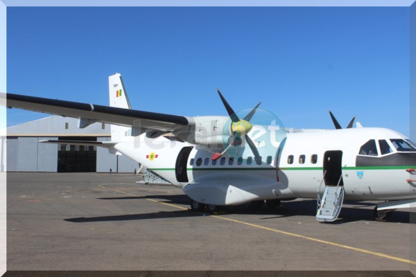 la réception de deux Aéronefs à la base aérienne capitaine Mame Andalla Cissé