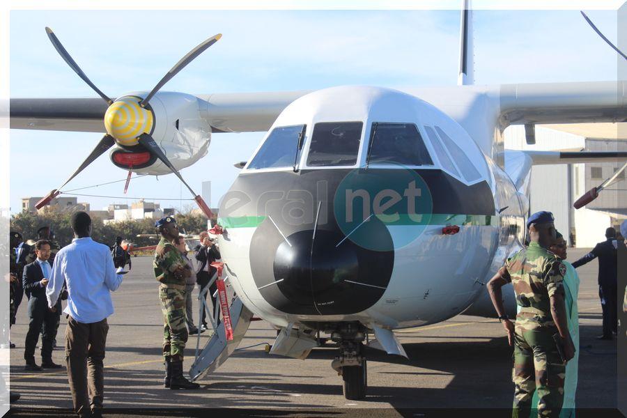 la cérémonie de la réception de deux Aéronefs à la base aérienne capitaine Mame Andalla Cissé
