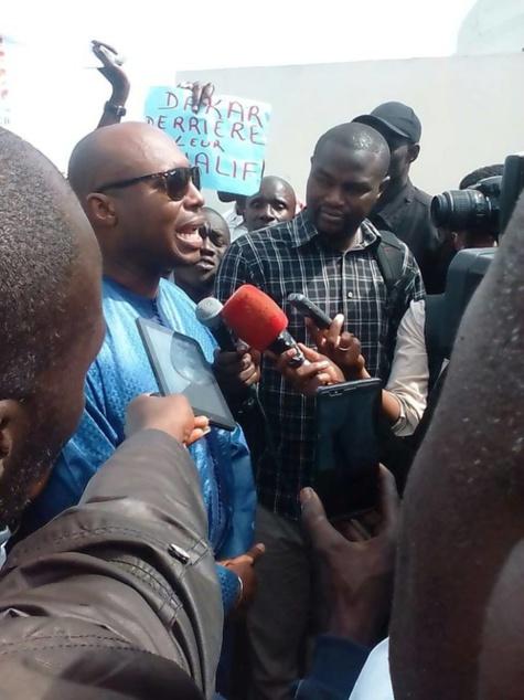 Barthélémy Dias, ce matin au Palais de justice de Dakar