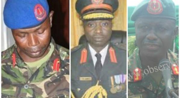 Début de purge dans l'armée gambienne: Le Chef d'état-major Badjie, les généraux Savage et Sowe, MA Bah, entre d'autres, envoyés à une retraite anticipée