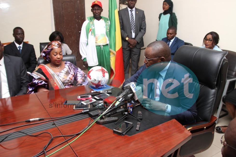 Visite de la secrétaire générale de la FIFA au ministère des Sports