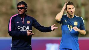 Lionel Messi et Louis Enriqué