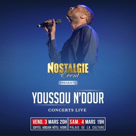 Yousou Ndour en concert Live à Abidjan ces  3 et 4 mars