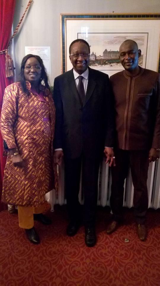 Cheikhou Oumar Sy et Elene Tine reçus par son Excellence M. Ousmane Paye, Ambassadeur du Sénégal au Canada.