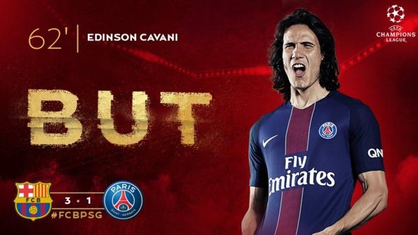 FC BAR-PARIS: Cavani réduit le score à la 62e minute